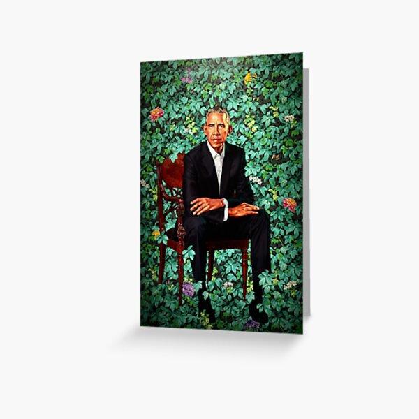 Unframed President Barack Obama Smithsonian's National Portrait Gallery Greeting Card