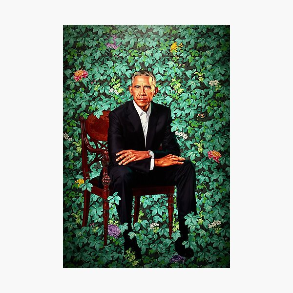 Unframed President Barack Obama Smithsonian's National Portrait Gallery Photographic Print