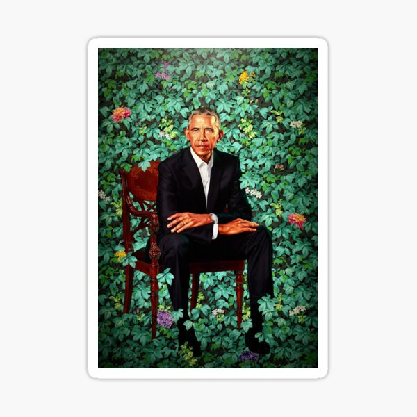 Unframed President Barack Obama Smithsonian's National Portrait Gallery Sticker