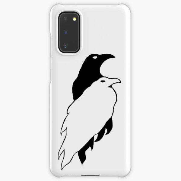 Black and White Crow Pair on White Samsung Galaxy Snap Case