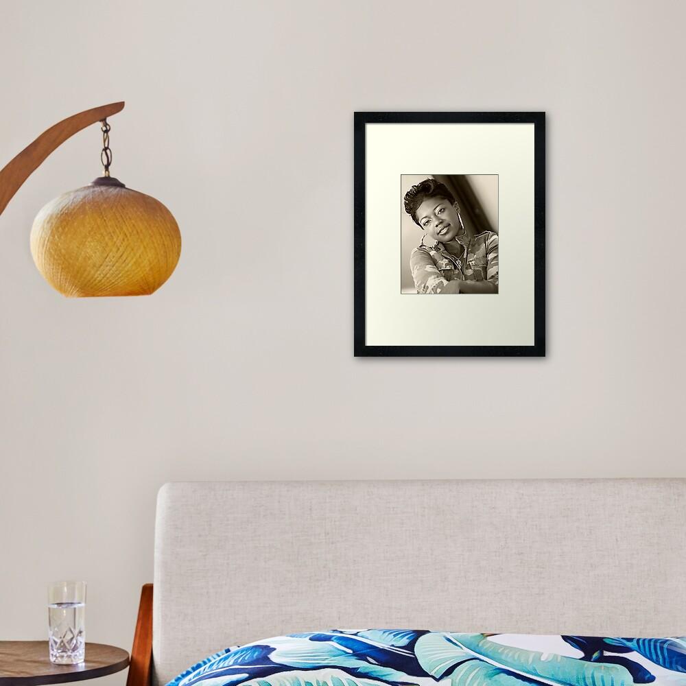 Watching You Framed Art Print