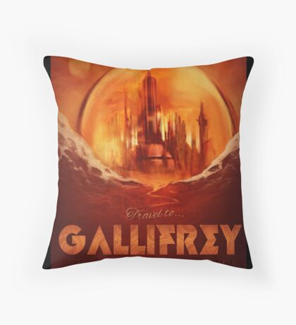 Travel To...  Gallifrey! Throw Pillow