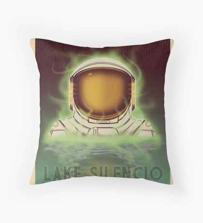 Travel To...  Lake Silencio Throw Pillow