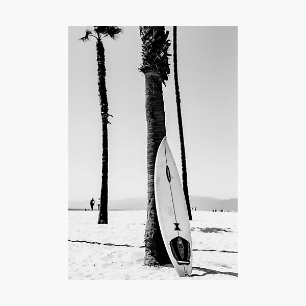 Surfboard Black and White Wall Art Photographic Print