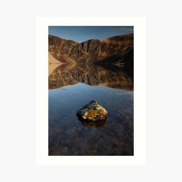 loch brandy reflections Art Print