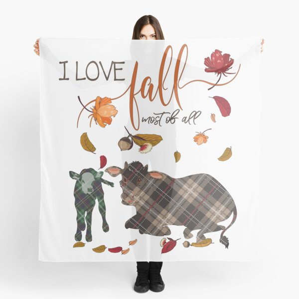 Cow Lovers - I Love Fall Most of All  Scarf