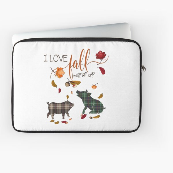 Pig Lovers - I Love Fall Most of All  Laptop Sleeve