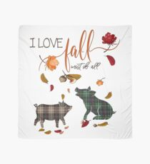 Pig Lovers - I Love Fall Most of All  Scarf