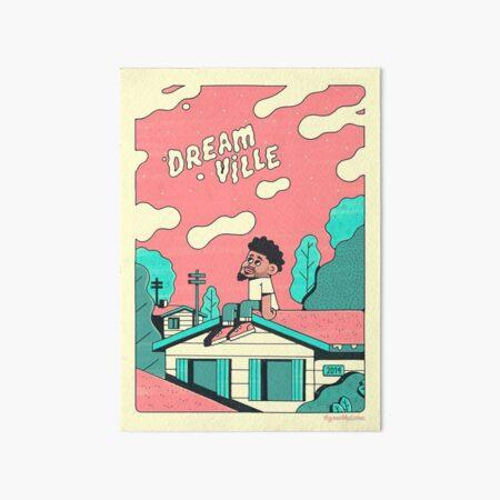 J Cole Dreamville Art Board Print