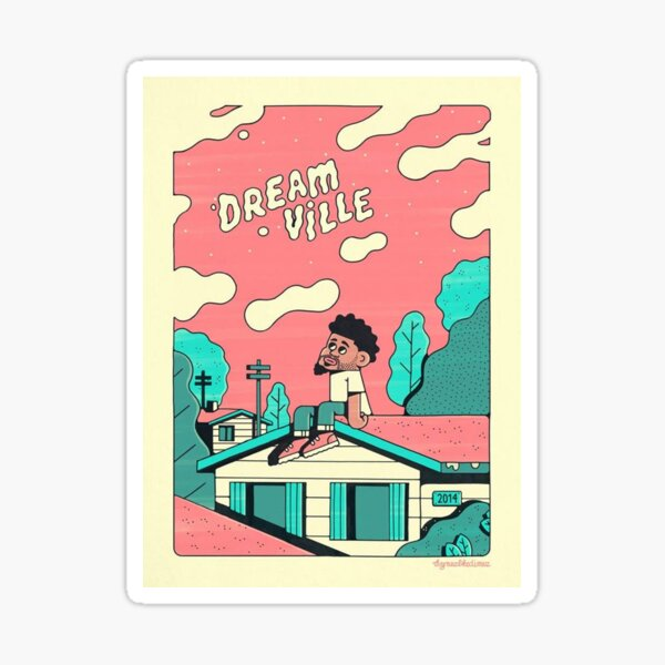 J Cole Dreamville Sticker