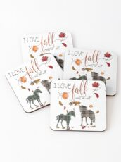Horse Lovers - I Love Fall Most of All  Coasters