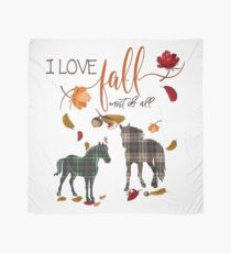 Horse Lovers - I Love Fall Most of All  Scarf
