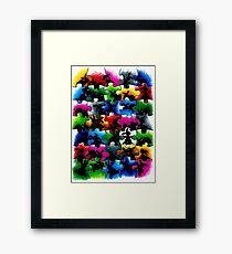 BLACK BUNNIES Framed Print
