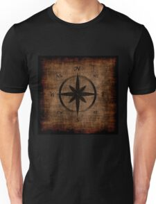 Nostalgic Old Compass Rose Design Unisex T-Shirt