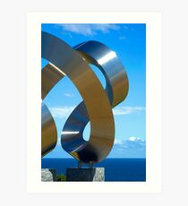 Chrome spirals Art Print