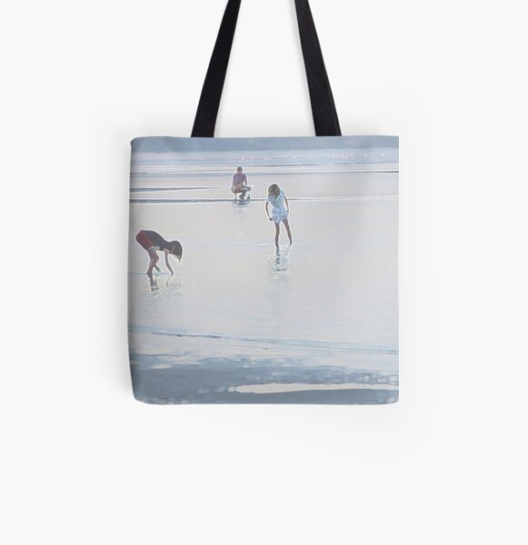Peaceful Evening at the Beach All Over Print Tote Bag