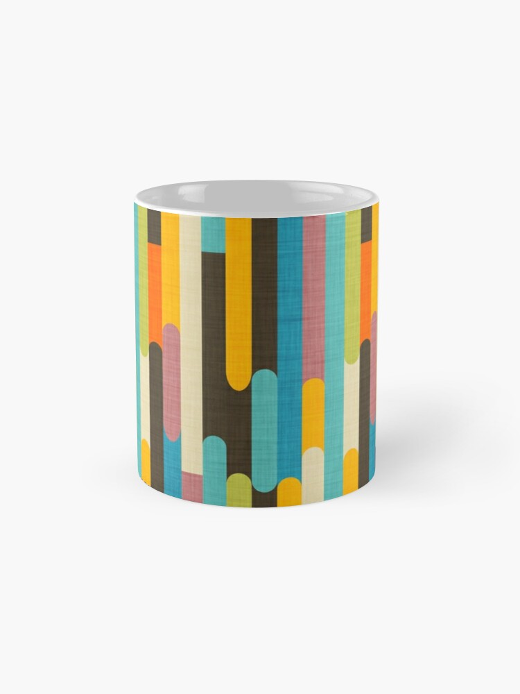 Alternate view of Retro Color Block Popsicle Sticks Blue Mug