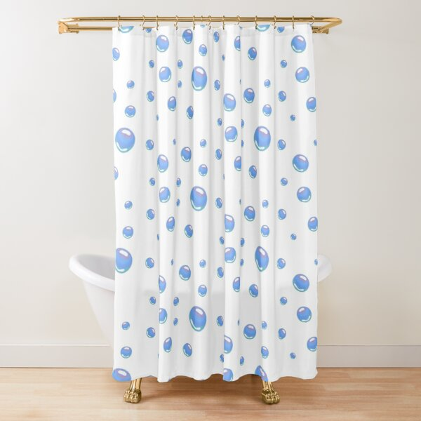Spongebob bubbles sticker pack Shower Curtain