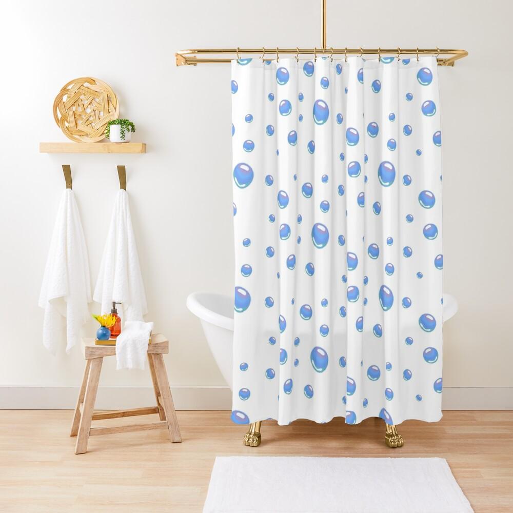 Spongebob bubbles sticker pack Shower Curtain