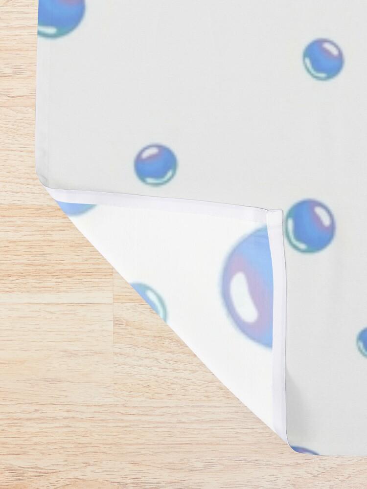 Alternate view of Spongebob bubbles sticker pack Shower Curtain