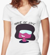 Garnet is Made of Love Fitted V-Neck T-Shirt