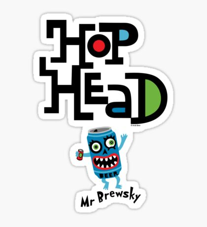 Hop Head (Mr Brewsky) - light Sticker