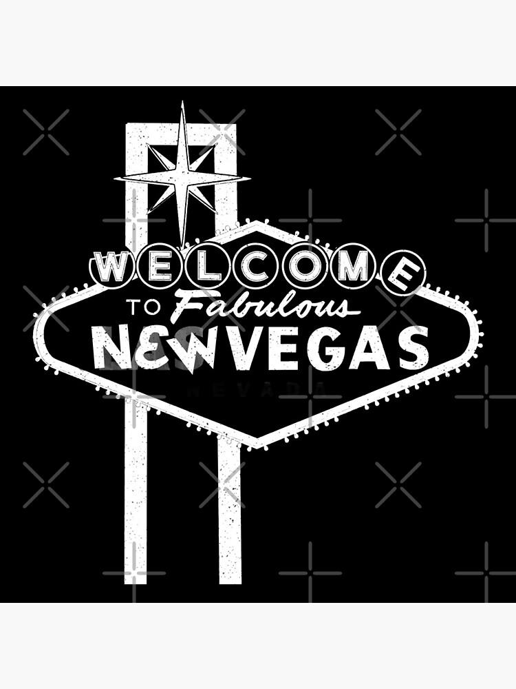 Welcome to New Vegas   Fallout New Vegas   White Logo by surik-