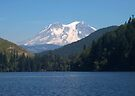 Mt. Rainier From Mineral Lake. by Dave Davis