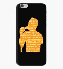 brandon flowers - smile like you mean it silhouette (black) iPhone Case