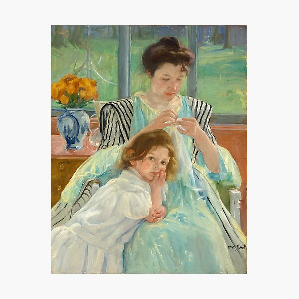 Mary Cassatt A Woman with her Daughter  Photographic Print