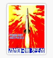 North Korean Propaganda - Rocket Sticker