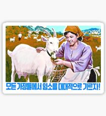 North Korean Propaganda - Goat Sticker