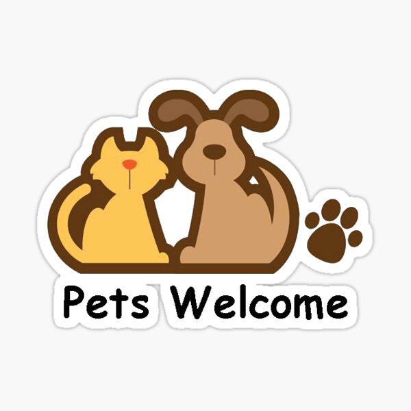 Mascotas bienvenidas Pegatina