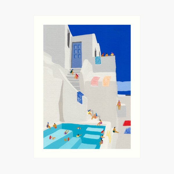 Santorini Sun Art Print