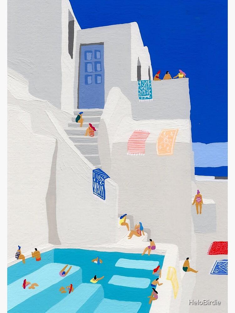 Santorini Sun by HeloBirdie