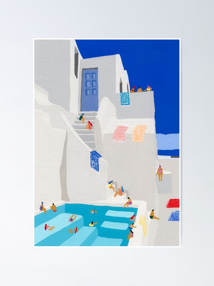 Alternate view of Santorini Sun Poster