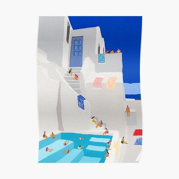 Santorini Sun Poster