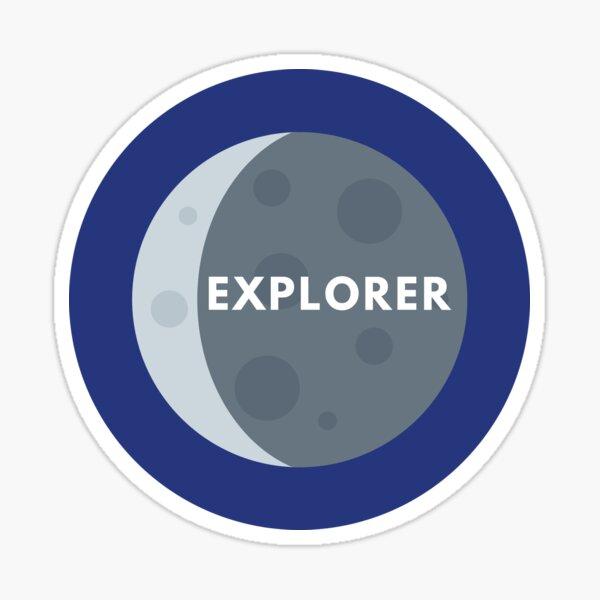 Moon Explorer Badge Sticker Sticker