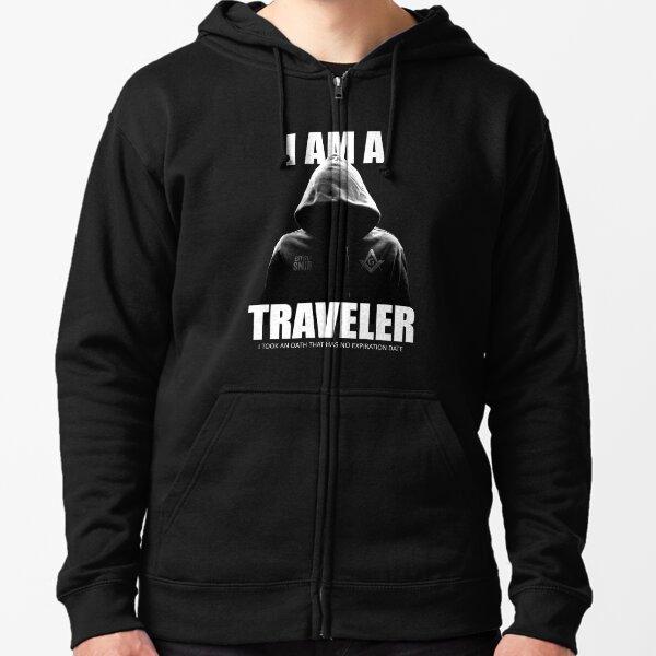 Freemason I am a Traveler Square & Compass Masonic Zipped Hoodie
