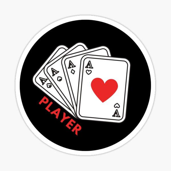 Card Game Badge Sticker Sticker