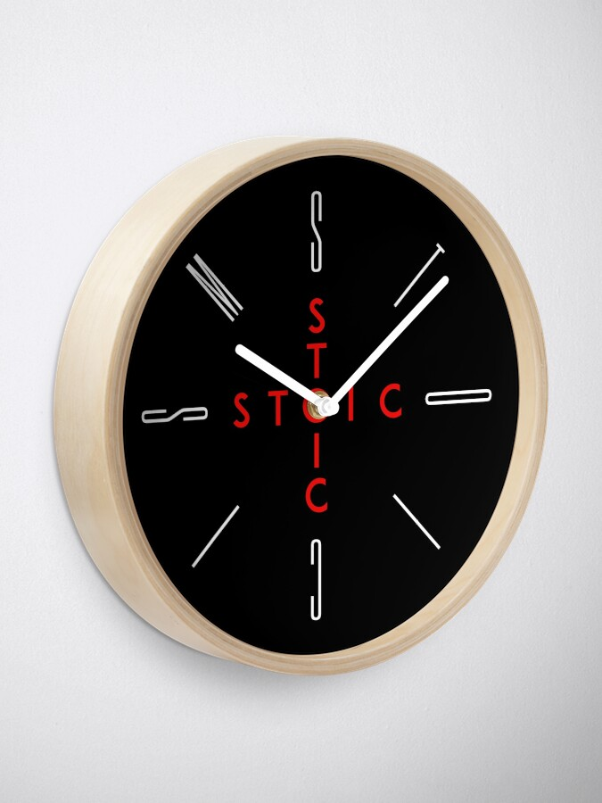 Alternate view of Stoic Word Cross - Stoic and Stoicism Text in a Cross Circle Clock