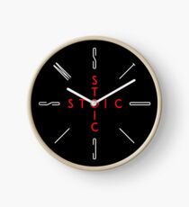 Stoic Word Cross - Stoic and Stoicism Text in a Cross Circle Clock