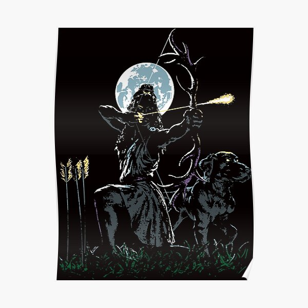 Artemis-Huntress-Greek Goddess Poster