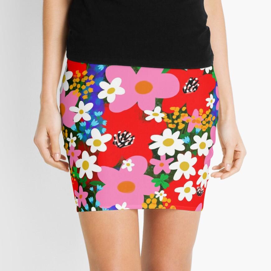 Flower Power! Mini Skirt