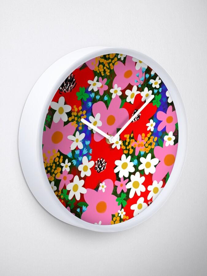 Alternate view of Flower Power! Clock