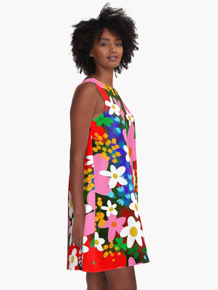 Alternate view of Flower Power! A-Line Dress