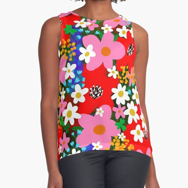 Flower Power! Sleeveless Top