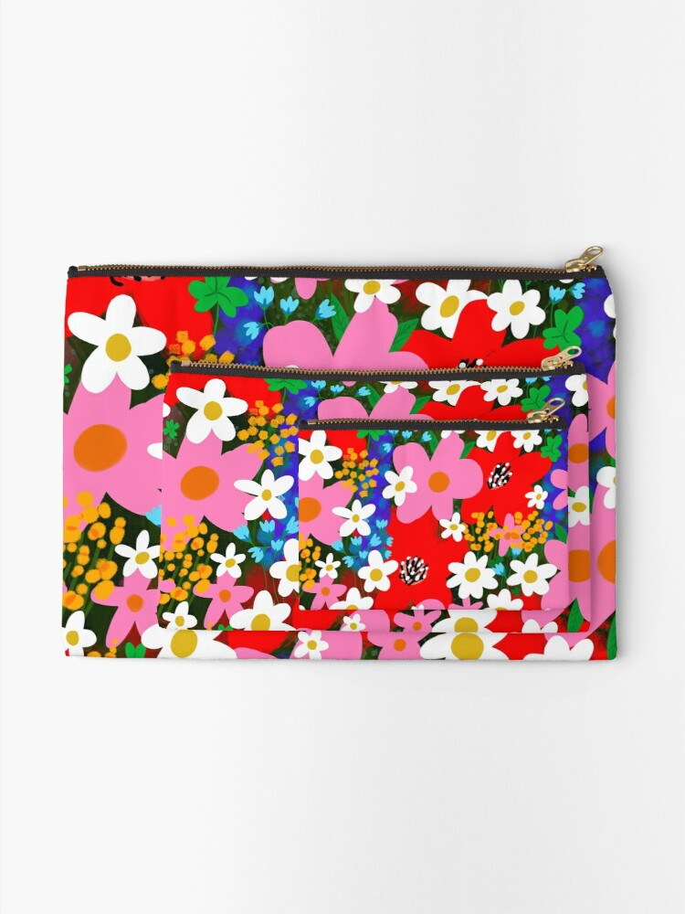 Alternate view of Flower Power! Zipper Pouch