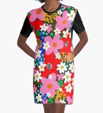 Flower Power! Graphic T-Shirt Dress