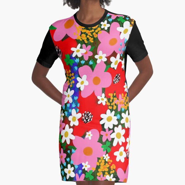 Flower Power! Graphic T-Shirt Dress